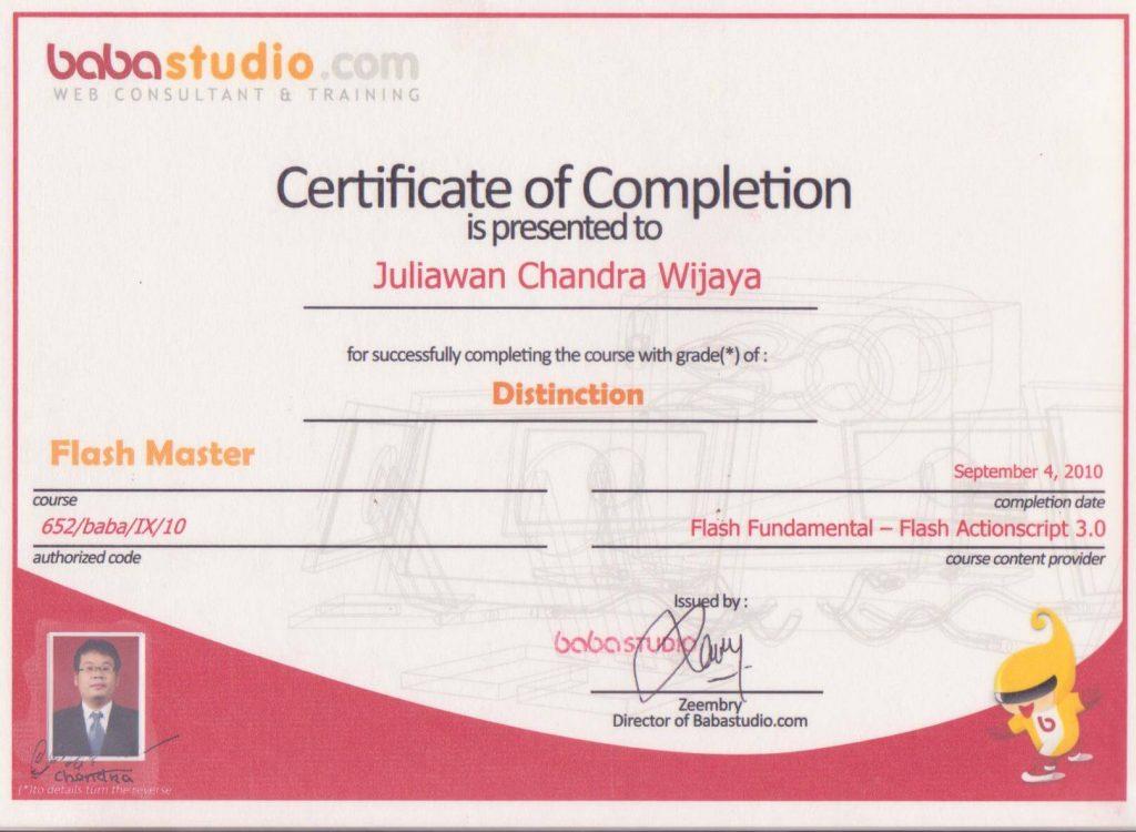 4. Flash Master Completion