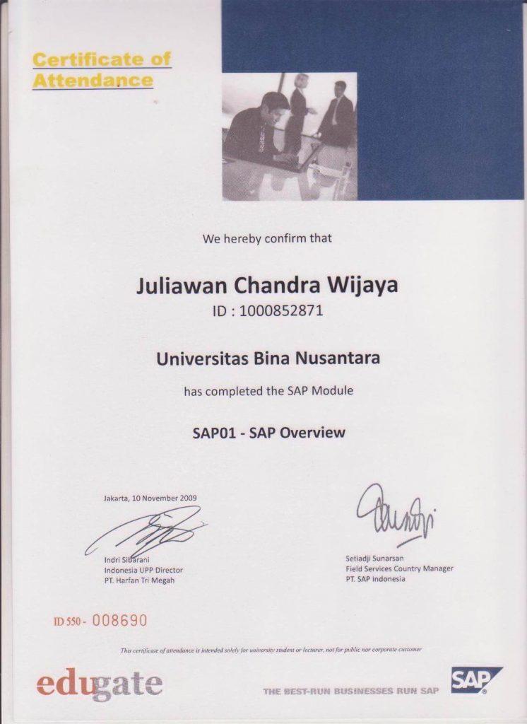 SAP 01 (SAP Overview) Juliawan Chandra Wijaya